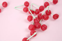 Twin Cherry Lollipops Royalty Free Stock Image