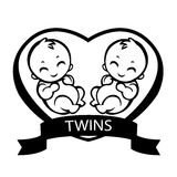 Twin children Royalty Free Stock Images