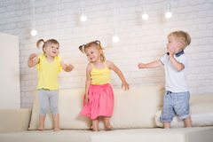Twin children play Stock Photography