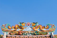 Twin Chinese dragon Royalty Free Stock Images