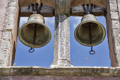 Twin Church Bells Stock Photo