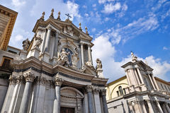 The twin churches Royalty Free Stock Photo