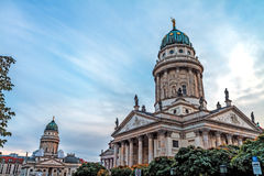 The twin Churches of Berlin. Picture of the twin Churches of Berlin in October Royalty Free Stock Photos