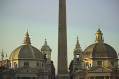 Twin churches in Rome Royalty Free Stock Photo