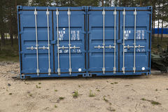 Twin containers Stock Photography