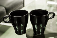 Twin cup is ceramic. For coffee Stock Image