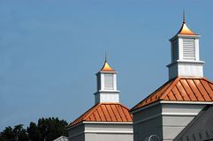 Twin Cupolas. Photographed in the town of Warrenton, Virginia stock images