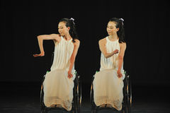 Twin-Dance musical. In May 22nd, the French original dance musical red line at the Jiangxi Art Center held. Chinese youth dance actor Liu Yan as the drama Stock Photo