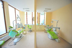 Twin dental chairs (dentists office) Royalty Free Stock Image
