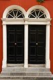 Twin doors. Kilkenny. Ireland. Twin georgian doorways. Kilkenny. Ireland royalty free stock photography