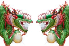 Twin dragon Stock Images