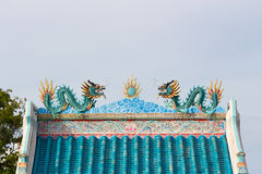 Twin dragon on the roof Royalty Free Stock Images