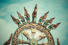 Twin Dragon statue on arch Chinese style. Asia Stock Photography