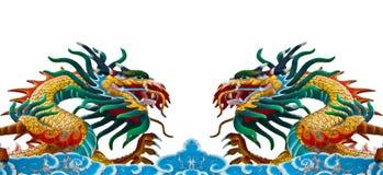 Twin dragons. stock photos