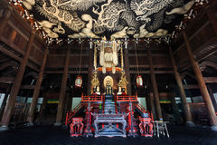 Twin Dragons Paintint at Kenninji Temple. Kyoto, Japan - October 20 2014: Twin Dragons painting on the ceiling of the main hall commemorates the 800-year Stock Image