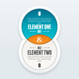 Twin Element Infographic Royalty Free Stock Image