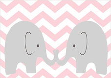 Twin Elephants Royalty Free Stock Images