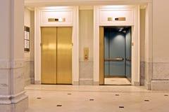 Twin elevators Stock Photo