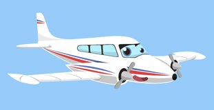 Twin-engine airplane cartoon. Illustration Stock Image