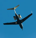 Twin engine jet airplane Stock Photography