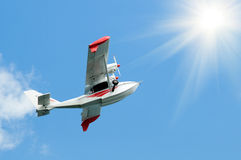 Twin-engine  light   hydroplane Royalty Free Stock Images