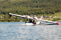 Twin-engine  light   hydroplane Royalty Free Stock Image