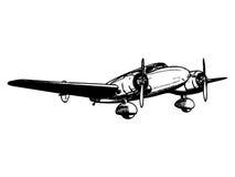Twin engine passenger plane Royalty Free Stock Photo