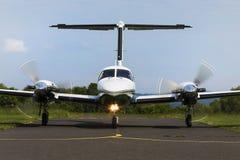 Twin-engine piston aircraft Stock Photo