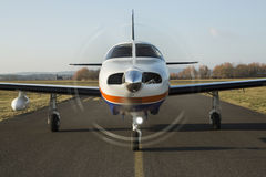 Twin-engine piston aircraft Royalty Free Stock Image