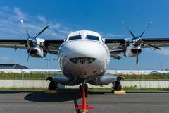 A twin-engine short-range transport aircraft Let L-410NG Turbolet. Stock Photo