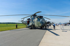 A twin-engined anti-submarine warfare ASW helicopter Sikorsky SH-3 Sea King Mk41. Stock Photos