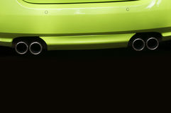 Twin exhaust pipes Royalty Free Stock Photo