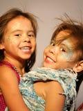 Twin Fairy Girls Stock Photography