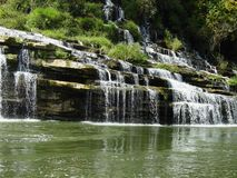 Twin Falls. At Rock Island State Park, TN Royalty Free Stock Images