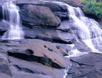 Twin Falls. Water falls at high falls park ga Stock Photography
