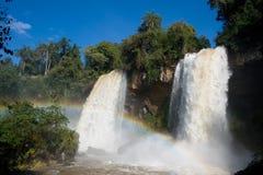 Twin Falls på Iguazu Falls Royaltyfria Foton