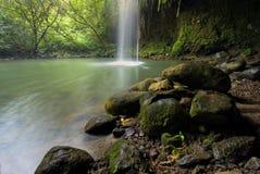 Twin Falls, promenade de short outre de la route à Hana, Maui, Hawaï Photo stock