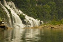 Twin falls, rock island tennessee. Twin falls at rock island tennessee in summer Stock Photo