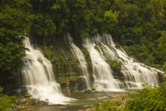 Twin falls, rock island tennessee. Twin falls at rock island tennessee in summer Royalty Free Stock Photography