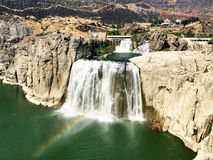 Twin Falls on Snake River in Idaho. The Twin Falls waterfall on the Snake River in southern Idaho, United States Royalty Free Stock Photography