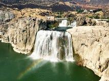 Twin Falls sul fiume Snake nell'Idaho Fotografia Stock Libera da Diritti