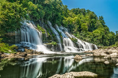 Twin Falls in Summer Stock Photography