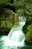 Twin Falls waterfall in Lynn Canyon Stock Image