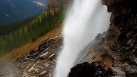 Twin Falls Yoho National Park. Wilderness view from Twin Falls of Yoho National Park in the Canadian Rockies stock video