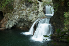 Twin falsl Lynn Valley. Twin Falls in North Vancouver Stock Photo