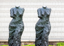 Twin figures, headless females Royalty Free Stock Image