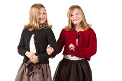 Twin girls Stock Photo