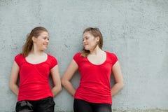 Twin girls Stock Photos