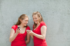 Twin girls Stock Photo