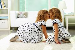 Twin girls Stock Images